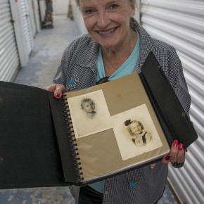 Karolyn Grimes with the portfolio she used as a child.
